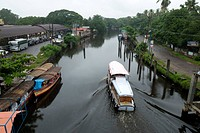 Backwaters , Alleppey Alappuzha , Kerala , India