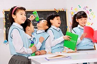Elementary school students in class