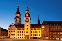 1496 to 1498 build Old Guildhall, late Gothic style, Chemnitz, Saxony, Germany, Europe