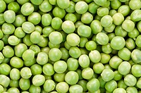 Full of fresh green peas