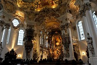 architecture, churches and convents, Germany, Bavaria, pilgrimage church of Wies, built 1745 _ 1754 after plan by Johann Bapist Zimmermann and Dominik...