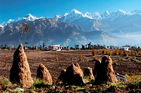 Panchachuli Peaks at Munsiari , Uttaranchal Uttarakhand , India