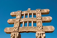Gateway of Stupa , Sanchi , Madhya Pradesh , India