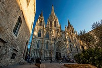 The Cathedral of the Holy Cross and Saint Eulalia, Barcelona, Catalonia, Spain