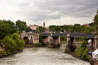 Bridge over Tiber river, Rome