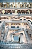 Interior of New Library in Stuttgart , Germany