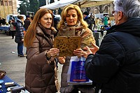 Women at antiques market, Verona Italy
