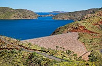 Australia, Western Australia, Lake Argyle and Ord River Dam