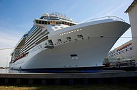 Cruise liner Celebrity Reflection, Meyer wharf, Papenburg, Emsland, Lower Saxony, Germany / Meyer Werft