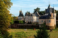 CHATEAU DE FRAZE, TOWN IN THE PARK OF THE PERCHE, PERCHE, EURE_ET_LOIR 28, FRANCE