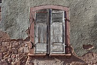 France, View of window with shutters