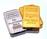 Gold and Platinum Bullion in Small Bars