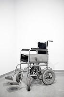 Empty wheel chair in a hospital