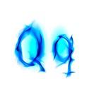 Fiery font. Letter Q