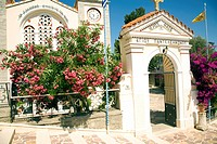 Greek orthodox church of Agios Pandeliemon, Siana, Rhodes, Greece