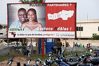 AIDS prevention billboard, Togo.