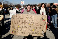 Windsor, Canada  January, 2013  Idle No More National Day of Action March called and 'economic slowdown' and it meets its goal  Peaceful march to Cana...