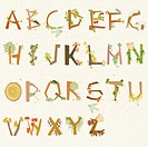 alphabets with art design
