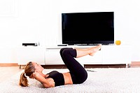 Woman exercise gymnastics