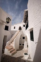 village of Binibeca Vell, Menorca Island, Spain, Balearic Islands