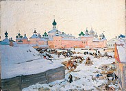 Rostov Velikij, by Juon Konstantin Fedorovic, 20th Century, 1906, oil on canvas, cm 70 x 96
