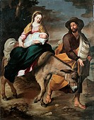 Flight into Egypt, by Murillo Bartolomé Esteban, 17th Century, 1645_1650, oil on canvas, cm 210 x 263