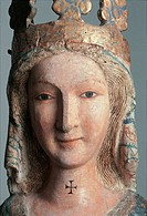 Madonna at Prayer, by Anonimo, 13th Century, wood, cm 133