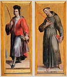 Saints Damien and Francesco, by Modigliani Livio, 16th Century, board,