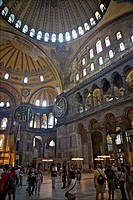 Interior of the Hagia Sophia Museum, UNESCO World Heritage Site, Istanbul, Turkey, Europe, Eurasia