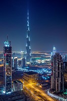 Downtown with Burj Khalifa and Business Bay, Dubai, UAE