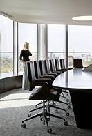Gazprom Offices London headquarters, London, United Kingdom. Architect: IOR Group, 2012. Detail of boardroom furnishing.