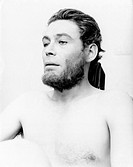 Irish actor Peter O'Toole bare chasted looking in the distance in the film The Bible: In the Beginning. 1966 The Bible: In the Beginning, 1966, direct...