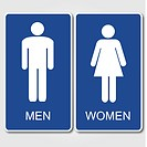 Men and Women Restroom Sign