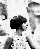 The Italian actress Luisella Boni (Luisa Angela Bozzo) showing a new hairstyle. 1964