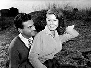 Italian actress Marisa Allasio acting with Teddy Reno in the film Ballata tragica. 1954