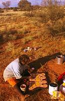 Warlayirti Artists, Miriam Olodoodi Pippar, Great Sandy Desert, Western Australia