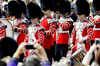 LONDON, UK _ June 16: Trooping the Colour ceremony on the Mall and at Buckingham Palace, on June 16, 2012 in London. Trooping the Colour takes place e...