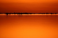 Sunset over Lake Menindee, Kinchega National Park, western New South Wales, Australia
