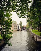 River and bridge in Bruges