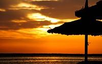 Sunrise over the Red sea egyptian coast