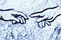 Michelangelos Erschaffung Adams in Stein , Michelangelo´s Creation of Adam in stone,