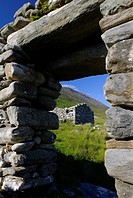 Slievemore Village, Achill Island, County Mayo, Ireland Remains of a village, deserted during the potato famine of the 1850s