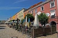 Bayern, Tittmoning, Stadtansicht, Stadtplatz, houses