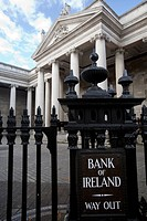 Bank of Ireland facade, Dublin, Ireland
