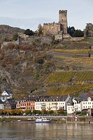 Burg Gutenfels, Upper Middle Rhine Valley, World Heritage Site, Caub, Rhineland-Palatinate, Germany