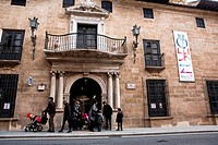 Entrance and facade of the Municipal Museum of Alcala la Real, Jaen province, Andalusia, Spain