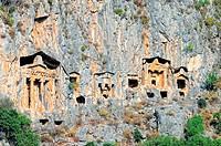 Lykische Felsengräber Dalyan Türkei, Lycian Rock Tombs Dalyan Turkey,