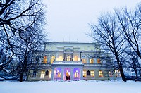 winter shot, neo-renaisance palace Zofin, Slavic Island, Prague, Czech Republic
