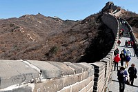 BEIJING _ MARCH 10:Visitors walks on the Great Wall of China on March 10 2008 Four million people visits the great wall each year Photo by NEWSCOM OUT