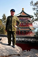 BEIJING _ MARCH 14:An old Chinese man wearing Mao Tzetung suite and hat visit at the Summer Palace in Beijing, China on March 14 2007 Chairman Mao Zed...